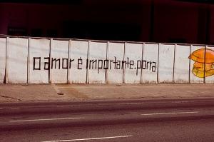 O amor é importante, porra